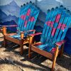 New Mexico Adirondack ski chairs