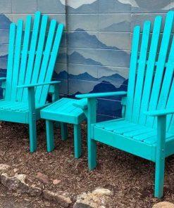 Teal Adirondack furniture set