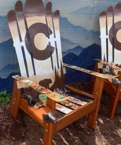 Brown bear Adirondack ski chair