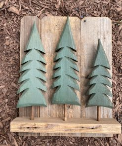 Wooden tree decoration