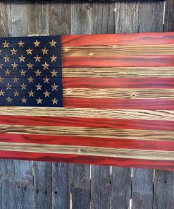 Hand painted us flag wall art