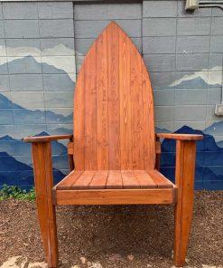 Wooden surfboard inspired Adirondack chair