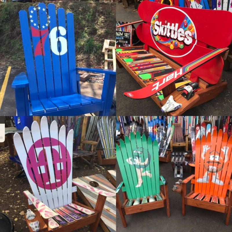 Brand logo Adirondack ski chairs