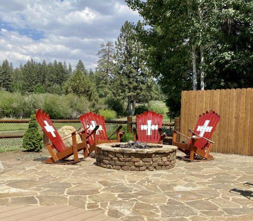 Swiss Adirondack ski chairs