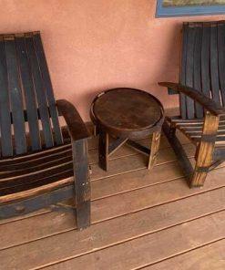 Rustic wine barrel furniture