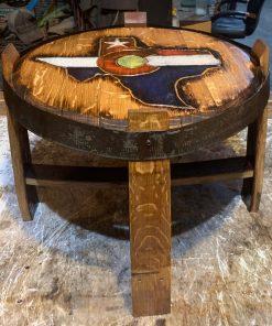 Colorado Texas wooden side table