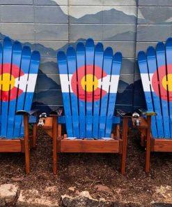 Classic Colorado flag Adirondack chairs