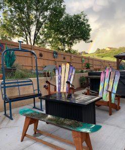Adirondack patio set up