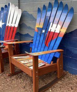 Texas sunset mural Adirondack ski chair