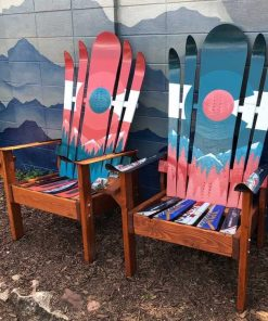 Colorado Mystic mountain mural hybrid ski/snowboard chair
