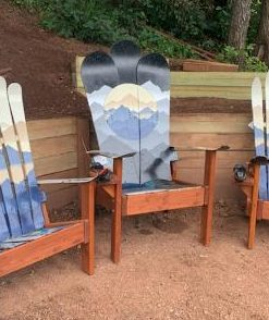 Mystic mountain ski, snowboard, and hybrid ski/snowboard chair set