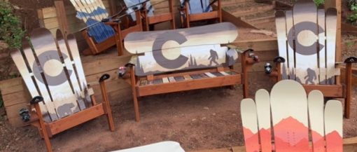 Brown sasquatch Adirondack furniture set