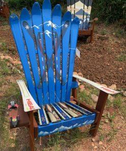 Skier resort ready Adirondack ski chair