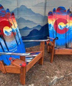 The mountains are calling Colorado hybrid Adirondack ski/snowboard chairs