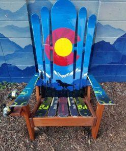 Colorado t rex mural Adirondack hybrid ski/snowboard chair