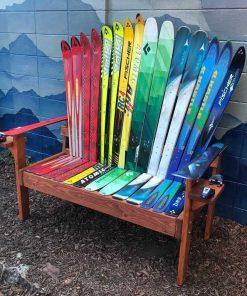 Rainbow ski bench