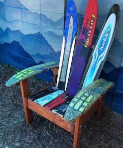 Custom water ski Adirondack chair
