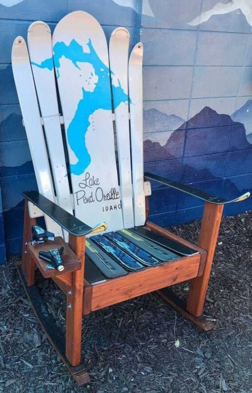 Choose your lake lakehouse hybrid Adirondack ski/snowboard chair