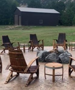Set of 8 whiskey barrel chairs