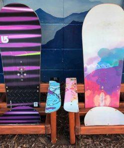 Small Colorful Kids Adirondack Snowboard chairs