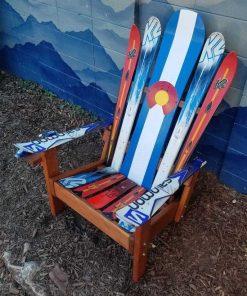 Vertical Colorado flag Adirondack hybrid ski/snowboard chair