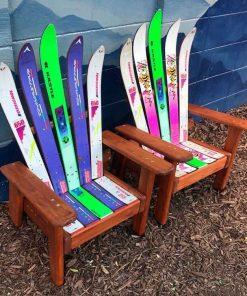 Kids sized Adirondack ski chairs