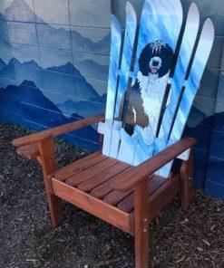 Select a dog breed hybrid Adirondack ski/snowboard chair