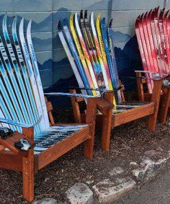 Cross country Adirondack ski chair set